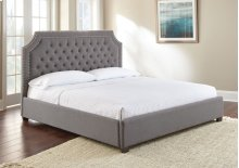 "Wilshire Queen Gray Upholstered Headboard 65"" x50"" x4"""