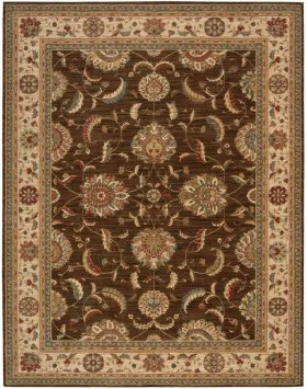 LIVING TREASURES LI04 BRN RECTANGLE RUG 7'6'' x 9'6''
