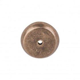 Aspen Round Backplate 1 1/4 Inch - Light Bronze