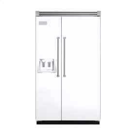 """White 48"""" Quiet Cool™ Side-by-Side with dispenser - VISB Tru-Flush™ (48"""" wide)"""