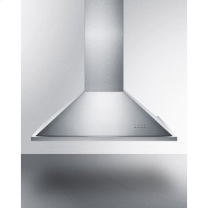 "Summit36"" Wide Island Range Hood In Stainless Steel, Made In Spain With Curved Canopy Style"