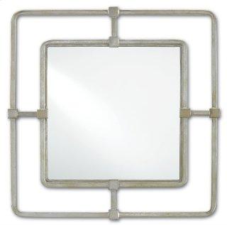 Metro Silver Square Mirror - 22.5h x 22.5w x 2d
