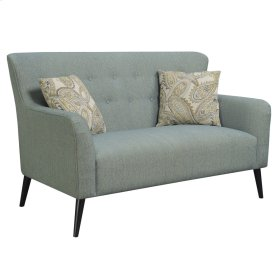 Settee W/2 Accent Pillows-green Casino