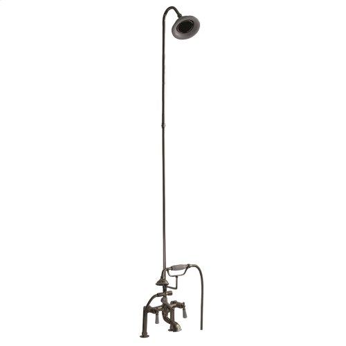 Tub/Shower Converto Unit - Elephant Spout, Riser, Showerhead, Lever Handles - Polished Nickel