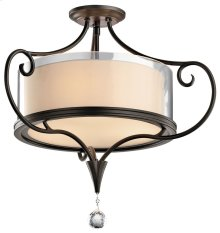 Lara 2 Bulb Semi Flush Shadow Bronze