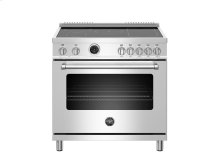 36 inch 5-Induction Zones, Electric Self-Clean Oven Stainless