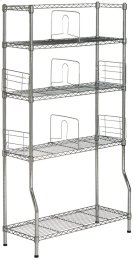 Fernand Chrome Wire Book Rack - Chrome Product Image