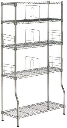 Fernand Chrome Wire Book Rack - Chrome
