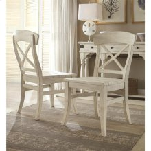 Regan - X-back Side Chair - Farmhouse White Finish