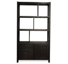 Perspectives Bookcase Etagere Ebonized Acacia finish