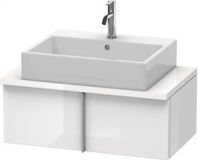 Vero Vanity Unit For Console Compact, White High Gloss Lacquer