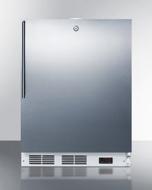 Built-in Undercounter Frost-free All-freezer for General Purpose Use, With Digital Thermostat, White Cabinet, Stainless Steel Door, Thin Handle, and Lock