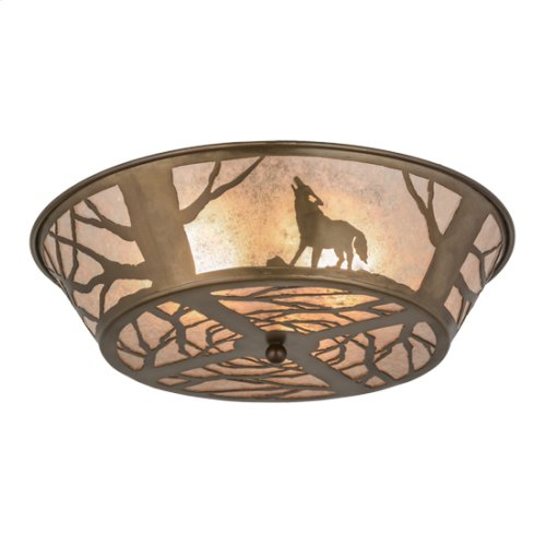 """22"""" Wide Wolf on the Loose Flush Mount"""