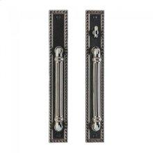 "Corbel Rectangular Patio Sliding Door Set - 2"" x 14"" Silicon Bronze Brushed"