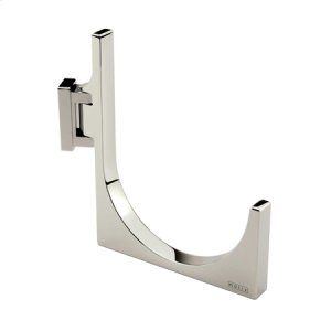 Satin Nickel Pivoting Towel Hook - Large