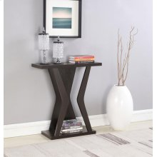 Transitional Cappuccino Console Table