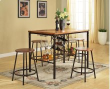 5 Piece Pub - Table & 4 Chairs