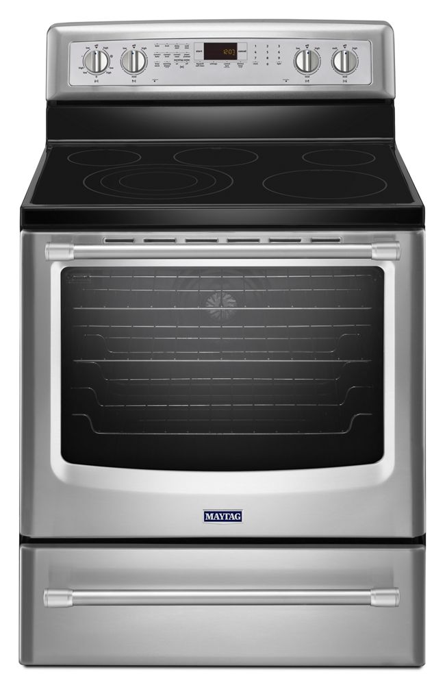 Mer8850dsmaytag 30 Inch Wide Electric Range With