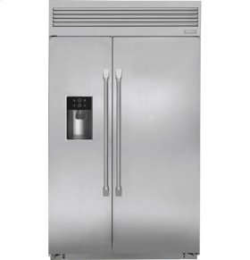 """48"""" Built-In Professional Side-By-Side Refrigerator with Dispenser"""