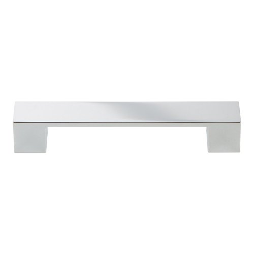 Wide Square Pull 5 1/16 Inch - Polished Chrome
