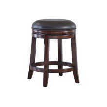 Porter Upholstered Swivel Stool, Rustic Brown