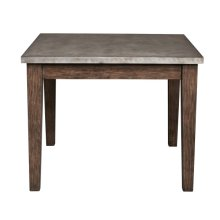 Metal Top Industrial Dining Table