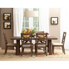 Hampton Road Trestle Dining Table With Six X Back Chairs