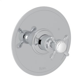 Polished Chrome Perrin & Rowe Edwardian Pressure Balance Trim Without Diverter with Metal Lever