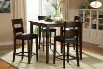 5-Piece Pack Counter Height Set Table : 40 x 40 x 36H Chair : 17 x 19.75 x 40.5H Product Image