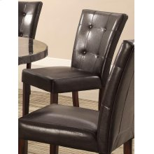 Milton Brown Faux Leather Dining Chair