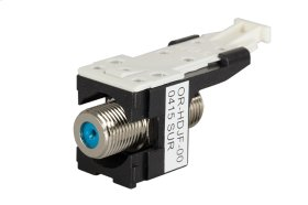 HDJ F Connector, F/F 75 Ohm, Black