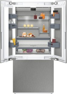 """400 Series Three-door Bottom Freezer With Fresh Cooling Close To 32 °f Fully Integrated Niche Width 36"""" (91.4 Cm)"""
