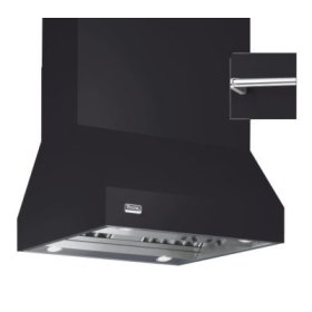 """66"""" Wide Island Hood, Chrome Accessory Rail on front, back and both sides"""