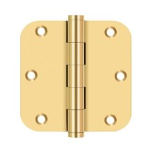 "3 1/2""x 3 1/2""x 5/8"" Radius Hinges - PVD Polished Brass"