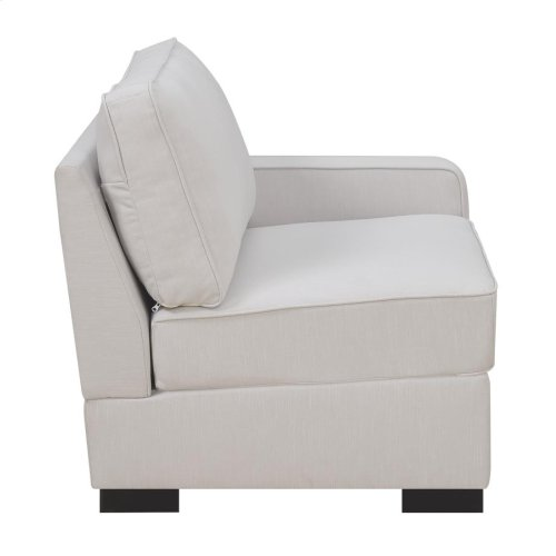 Transitional Ivory Right-arm-facing Sectional Chair