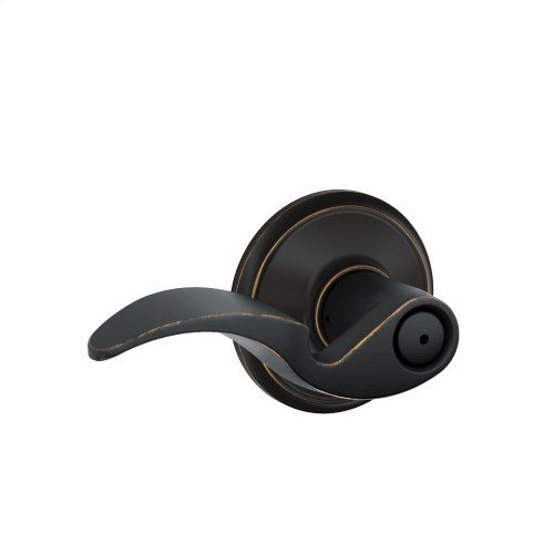 Avanti Lever Bed & Bath Lock - Aged Bronze