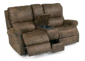 Miles Fabric Power Reclining Loveseat with Console