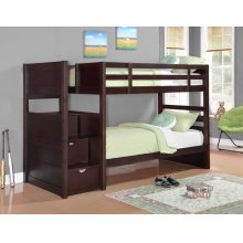 Elliott Transitional Cappuccino Twin-over-twin Bunk Bed