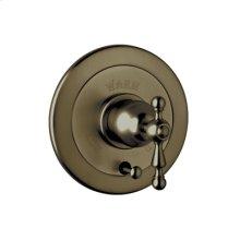 Tuscan Brass Arcana Volume Control Pressure Balance Trim With Diverter with Arcana Cross Handle