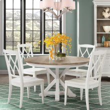 Myra - Round Dining Table Top - Natural/paperwhite Finish