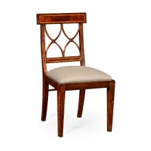 Regency Mahogany Curved Back Chair (Side)