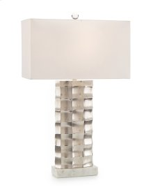 Chiseled and Polished Nickel Table Lamp