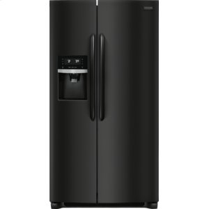 Gallery 25.5 Cu. Ft. Side-by-Side Refrigerator - EBONY BLACK