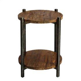 Lotta End Table Gunmetal Frame, Natural