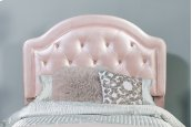 Karley Headboard - Twin - Embossed Pink With Glass Button