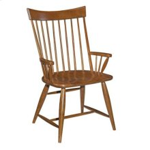 Cherry Park Arm Chair Wood Seat