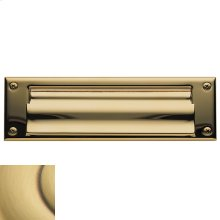 Satin Brass and Brown Letter Box Plates