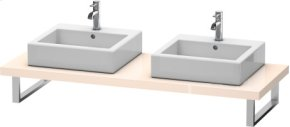 Console For Above-counter Basin And Vanity Basin, Apricot Pearl High Gloss Lacquer
