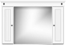 Traditional two-door medicine cabinet
