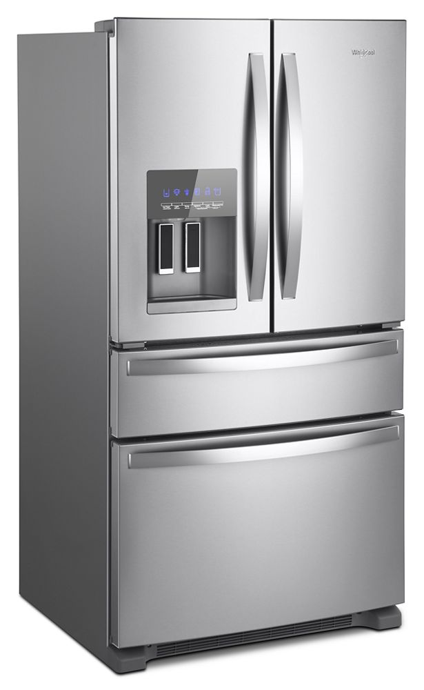 WHIRLPOOL 36 Inch Wide French Door Refrigerator   25 Cu. Ft.